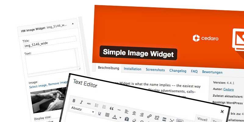 (Deutsch) Verschiedene Image-Widgets für WordPress – ein Vergleich
