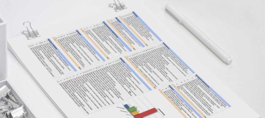 Bild von fertiger UX-Analyse einer Webseite
