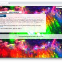 Bildschirmfoto der Seite light-kitchen.com mit einem Menü und einer Inhaltsseite und einer Fußzeile.
