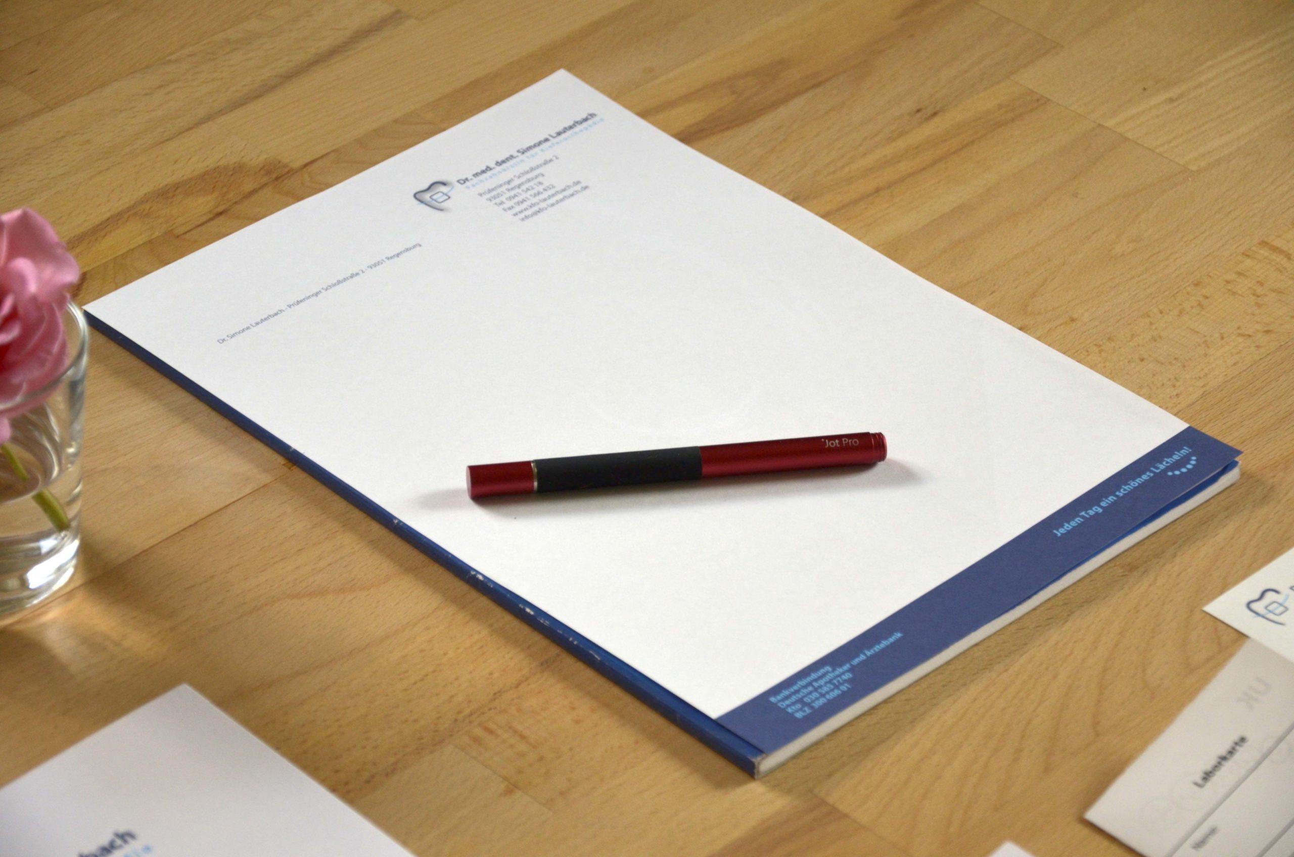 Briefpapier KFO-Praxis Lauterbach