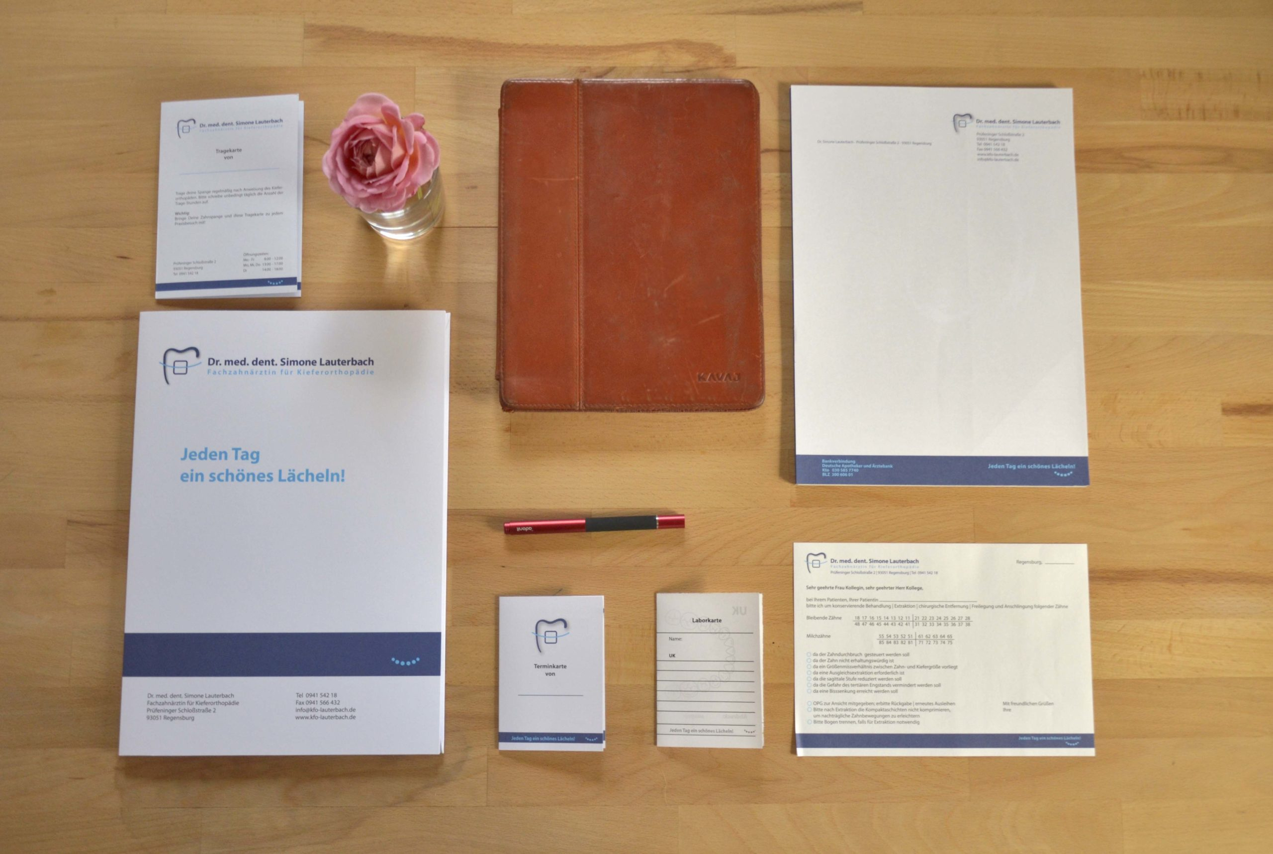 Geschäftsunterlagen KFO-Praxis Lauterbach