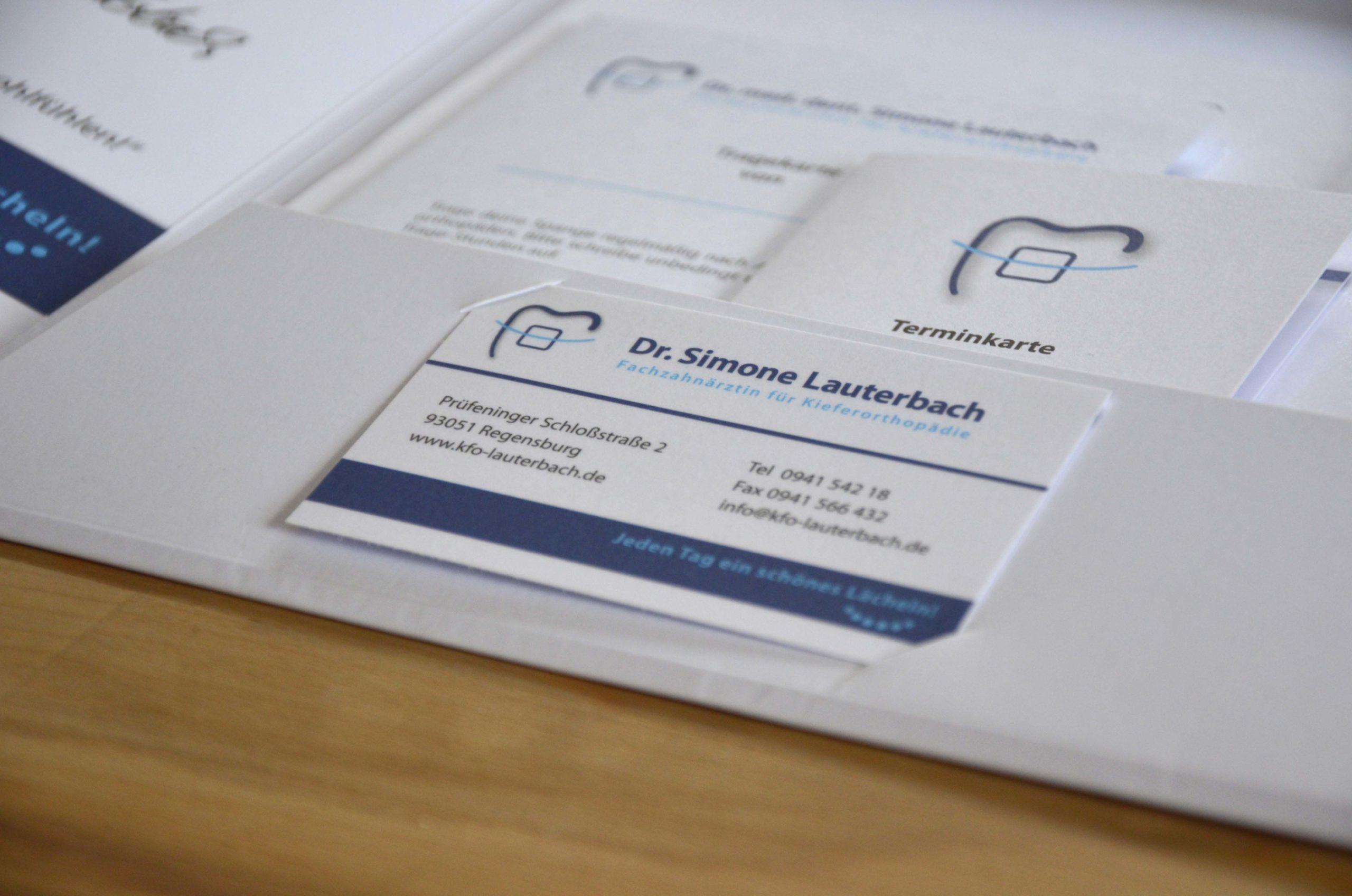 Visitenkarte Dr. med. dent. Lauterbach