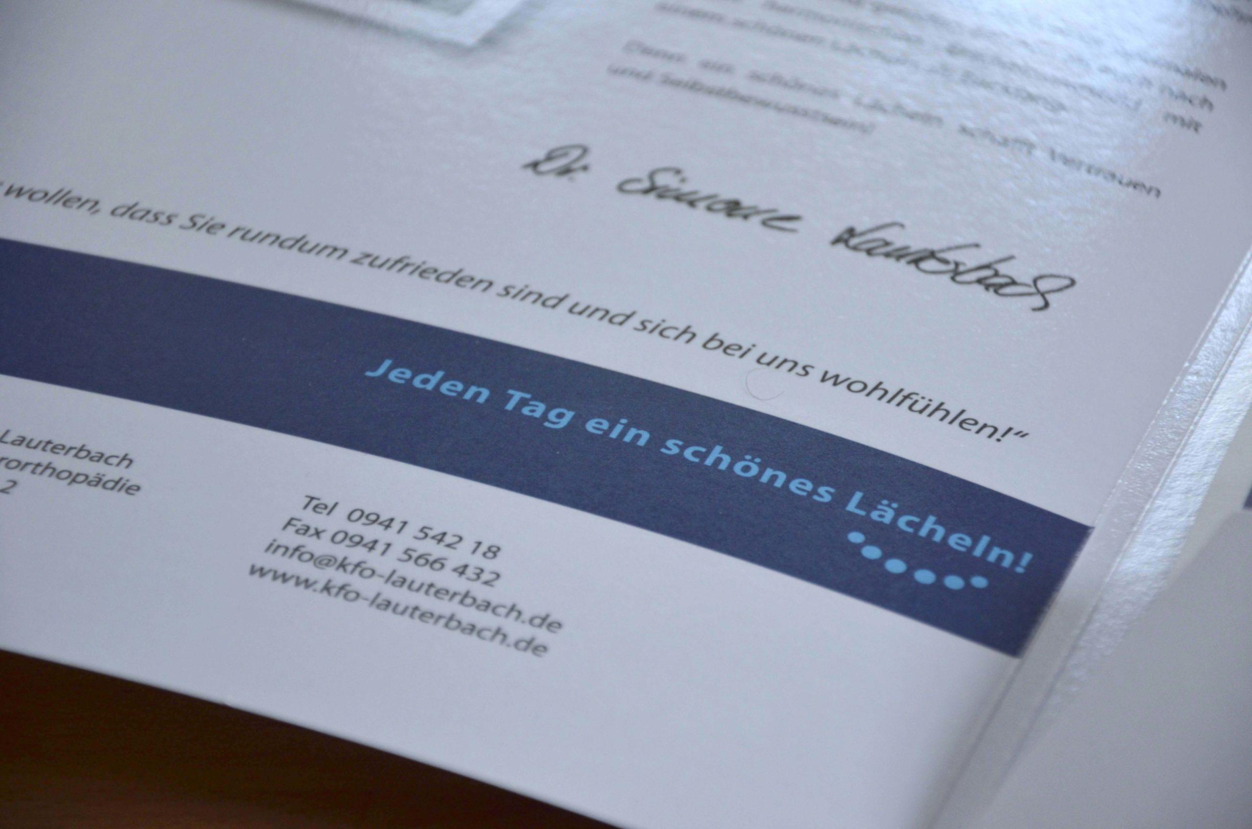 Patienteninformationsmappe der KFO-Praxis Lauterbach