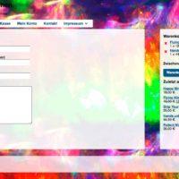 Bildschirmfoto lightkitchen Kontaktseite mit Formularen und Button